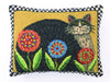 Penny Flower Cat Pillow 14X18