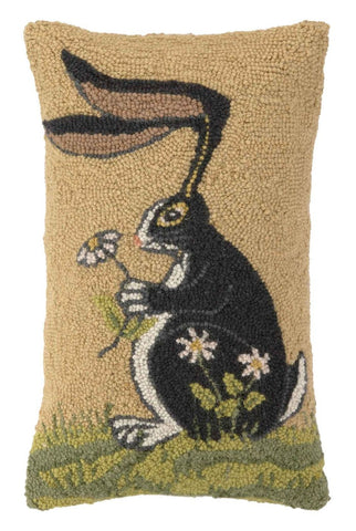 Bunny With Daisy Hook Pillow