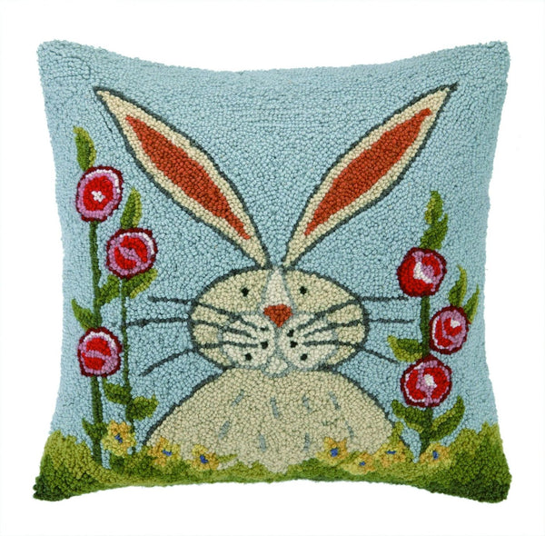 Rabbit In Garden Pillow 18X18