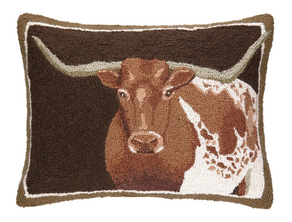 Longhorn Hook Pillow 16X22