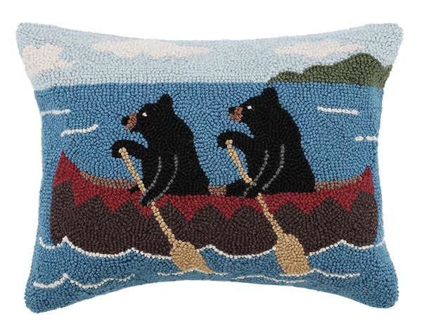Bears On Boat Pillow 14X18