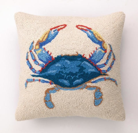 Blue Crab Hook Pillow 16X16
