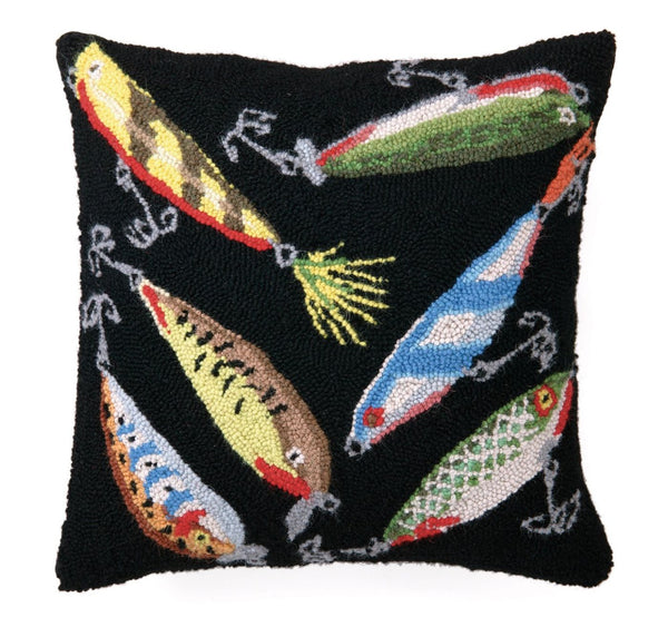 Lures Hook Pillow 16X16