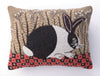Checkerboard Bunny Hook Pillow