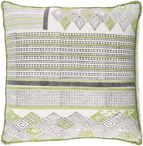 Throw Pillows - Surya ABA001-1818D Aba Throw Pillow Green, Brown | 888473565383 | Only $60.00. Buy today at http://www.contemporaryfurniturewarehouse.com