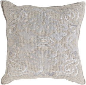 Throw Pillows - Surya AD001-1818D Adeline Throw Pillow Gray | 888473430650 | Only $87.60. Buy today at http://www.contemporaryfurniturewarehouse.com