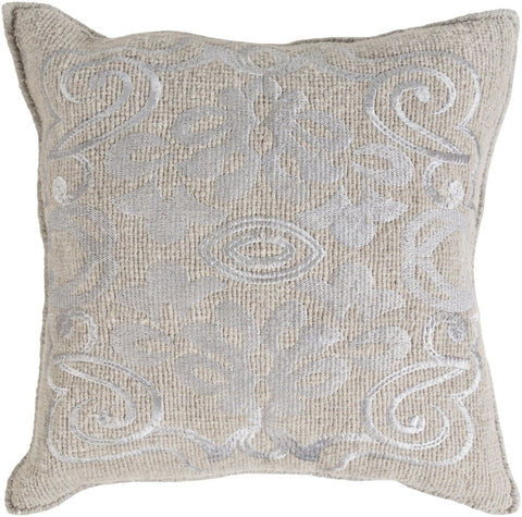 Throw Pillows - Surya AD001-1818D Adeline Throw Pillow Gray | 888473430650 | Only $97.80. Buy today at http://www.contemporaryfurniturewarehouse.com