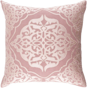 Throw Pillows - Surya ADI002-1818D Adelia Throw Pillow Pink, Pink | 888473565529 | Only $63.60. Buy today at http://www.contemporaryfurniturewarehouse.com