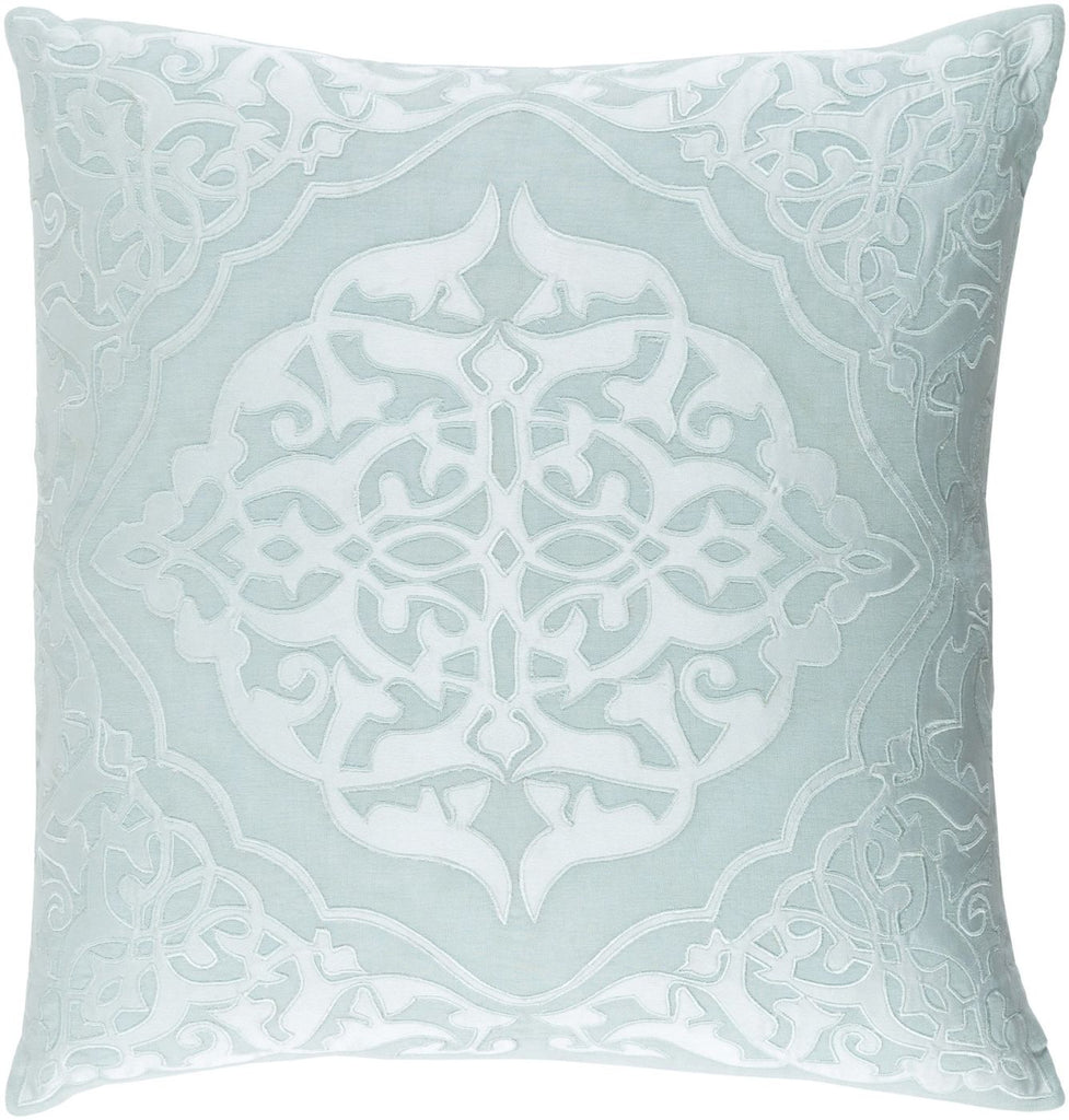 Throw Pillows - Surya ADI004-1818D Adelia Throw Pillow Green, Blue | 888473565581 | Only $73.80. Buy today at http://www.contemporaryfurniturewarehouse.com
