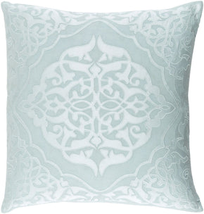 Throw Pillows - Surya ADI004-1818D Adelia Throw Pillow Green, Blue | 888473565581 | Only $63.60. Buy today at http://www.contemporaryfurniturewarehouse.com