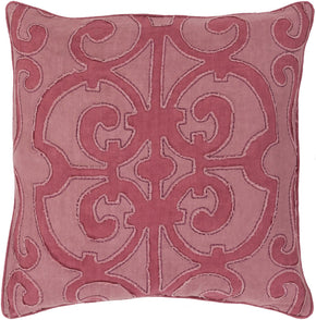 Throw Pillows - Surya AL001-1818D Amelia Throw Pillow Pink, Pink | 888473219125 | Only $87.60. Buy today at http://www.contemporaryfurniturewarehouse.com
