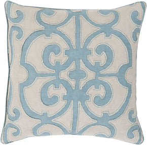 Amelia Throw Pillow Blue Gray