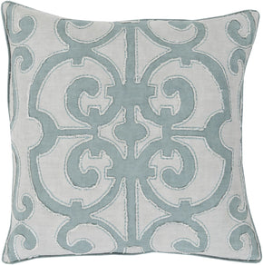 Throw Pillows - Surya AL003-1818D Amelia Throw Pillow Blue, Gray | 764262211177 | Only $87.60. Buy today at http://www.contemporaryfurniturewarehouse.com