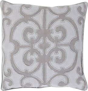 Amelia Throw Pillow Gray Purple