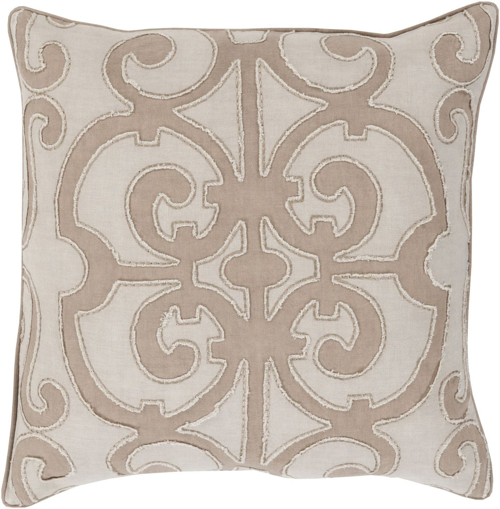 Amelia Throw Pillow Brown Neutral