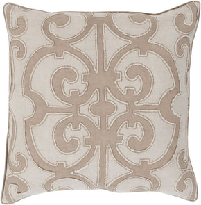 Throw Pillows - Surya AL005-1818D Amelia Throw Pillow Brown, Neutral | 888473219224 | Only $87.60. Buy today at http://www.contemporaryfurniturewarehouse.com
