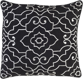 Adagio Throw Pillow Black Neutral