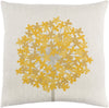 Agapanthus Throw Pillow Neutral Yellow