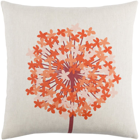 Agapanthus Throw Pillow Red Orange