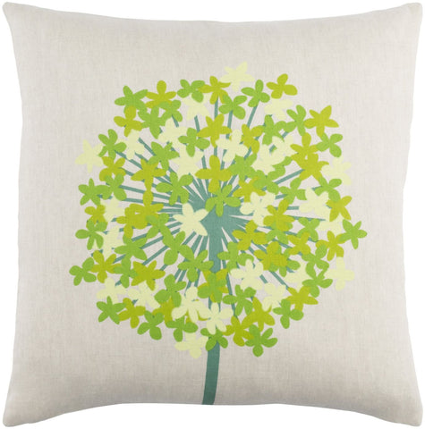 Agapanthus Throw Pillow Blue Green