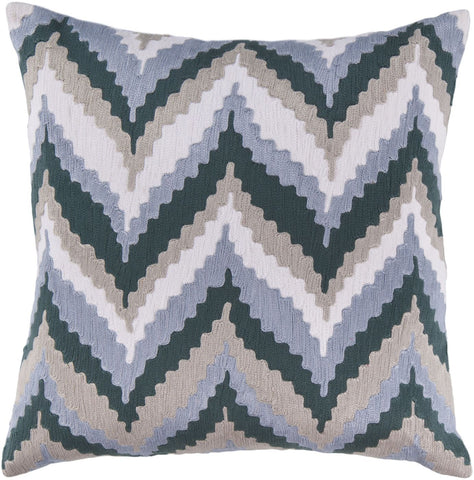 Ikat Chevron Throw Pillow Blue