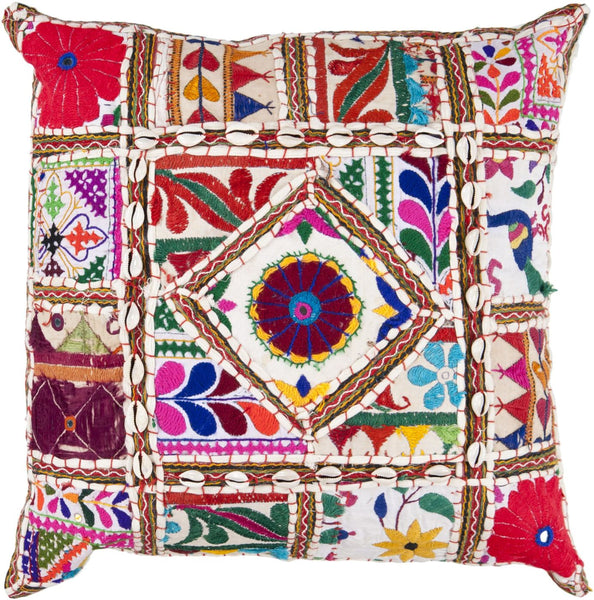 Karma Throw Pillow Neutral Red