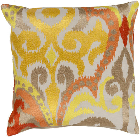 Ara Throw Pillow Yellow Orange