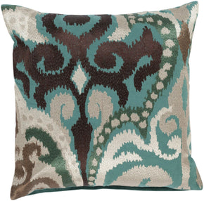 Ara Throw Pillow Green Brown