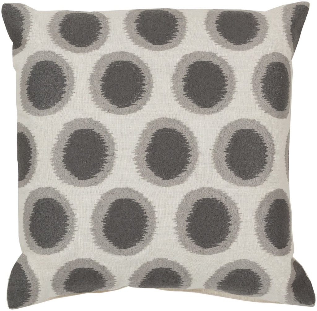 Ikat Dots Throw Pillow Neutral Gray