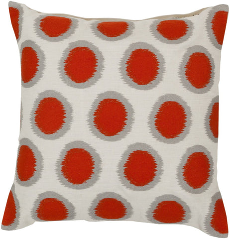 Ikat Dots Throw Pillow Orange Neutral