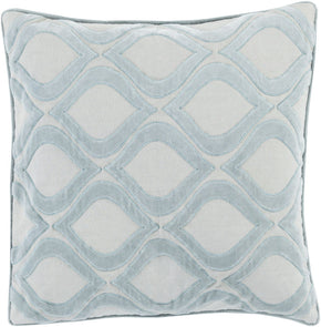 Alexandria Throw Pillow Blue Gray