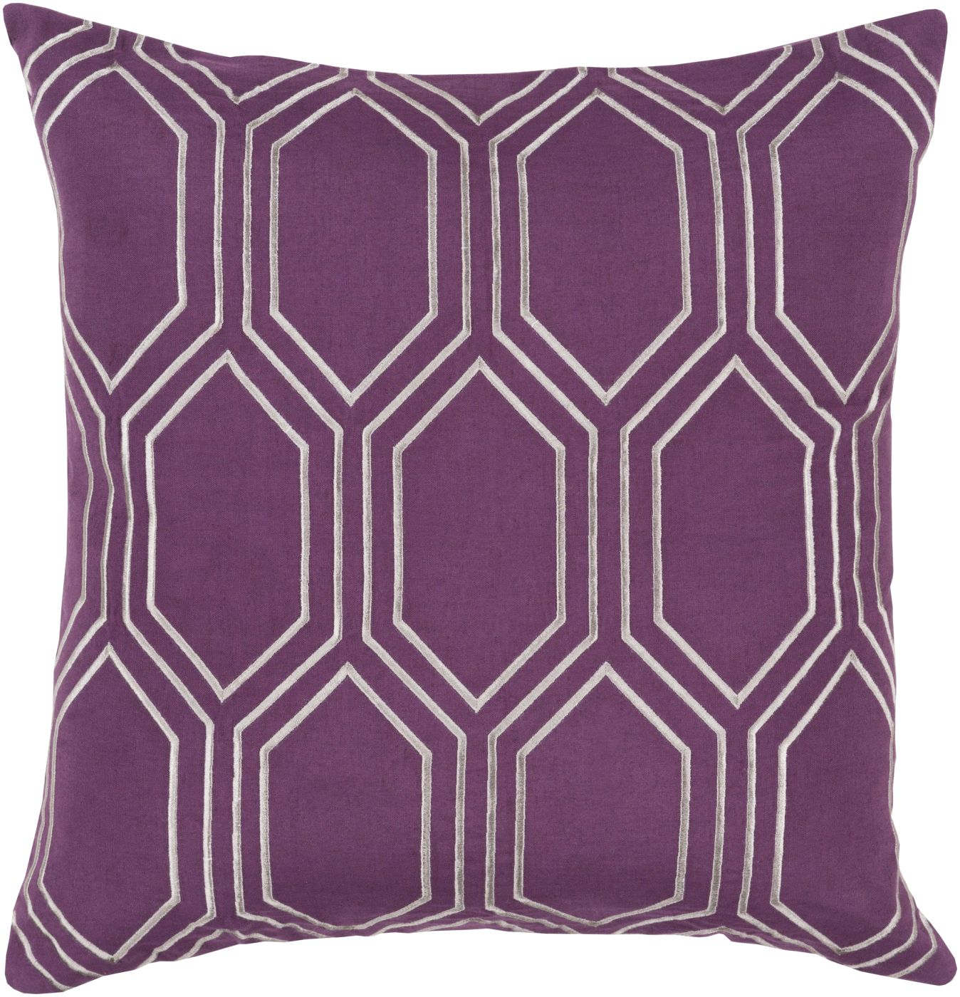 Purple And Gray Decorative Pillows : Surya Skyline Throw Pillow Purple, Gray BA006-2020D. Only $97.80 at Contemporary Furniture ...