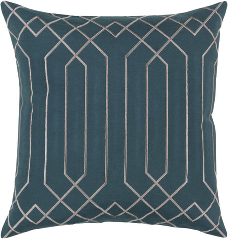 Skyline Throw Pillow Green Gray