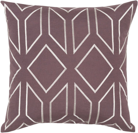 Surya Skyline Throw Pillow Purple, Neutral BA026-1818D | 888473108092| $55.80. Throw Pillows - . Buy today at http://www.contemporaryfurniturewarehouse.com