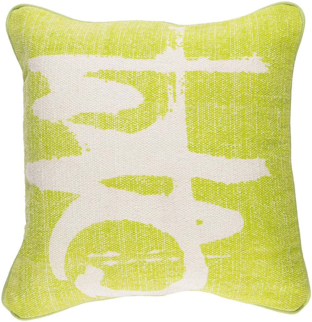 Bristle Throw Pillow Green Neutral