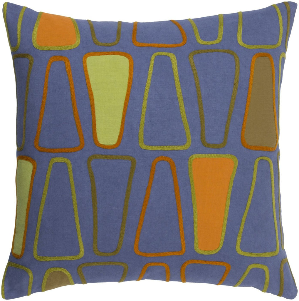 Charade Throw Pillow Blue Green