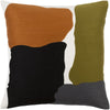 Charade Throw Pillow Green Orange