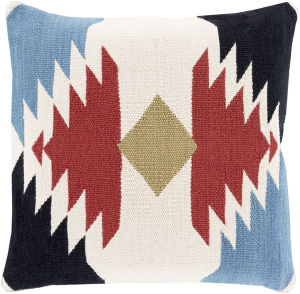 Cotton Kilim Throw Pillow Red Black