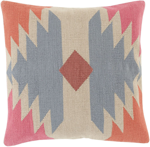 Cotton Kilim Throw Pillow Gray Neutral