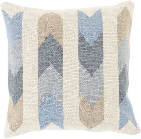 Cotton Kilim Throw Pillow Neutral Gray