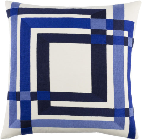 Color Form Throw Pillow Neutral Blue