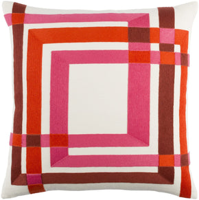 Color Form Throw Pillow Neutral Pink