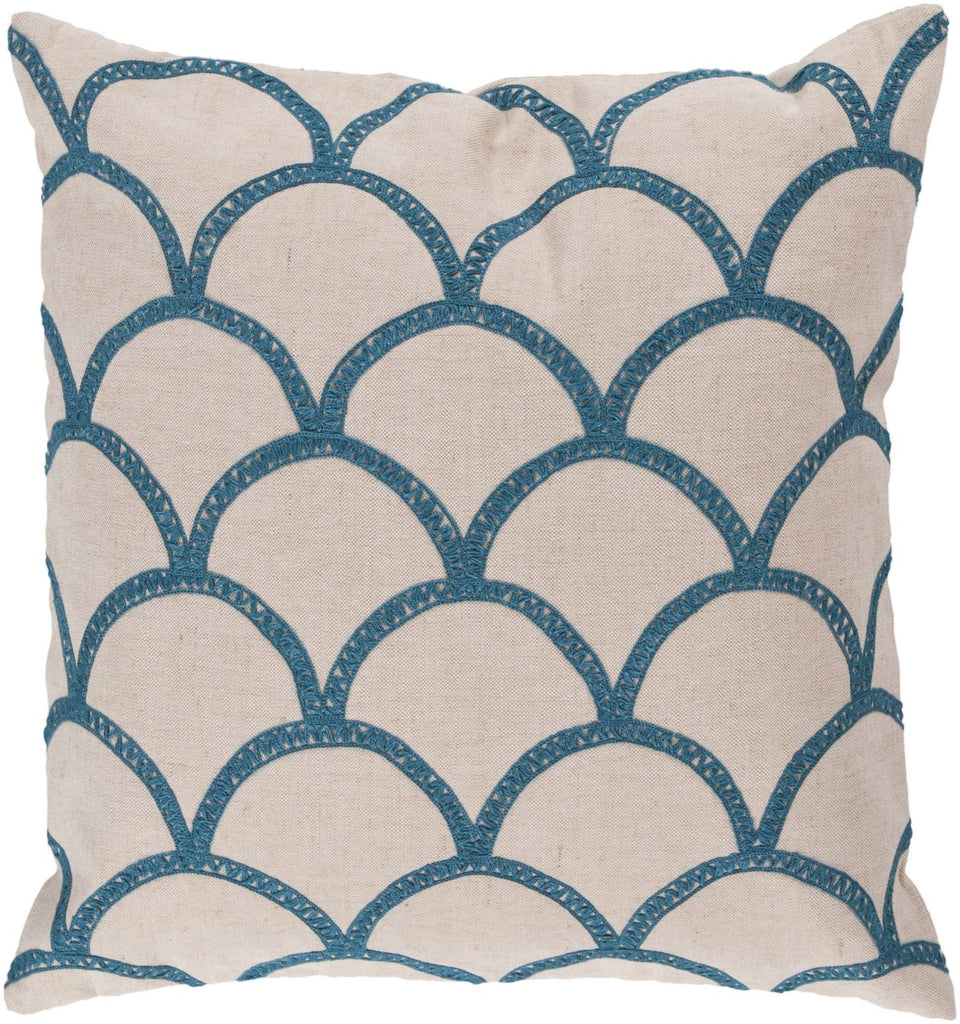 Meadow Throw Pillow Neutral Blue