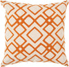 Geo Diamond Throw Pillow Neutral Orange