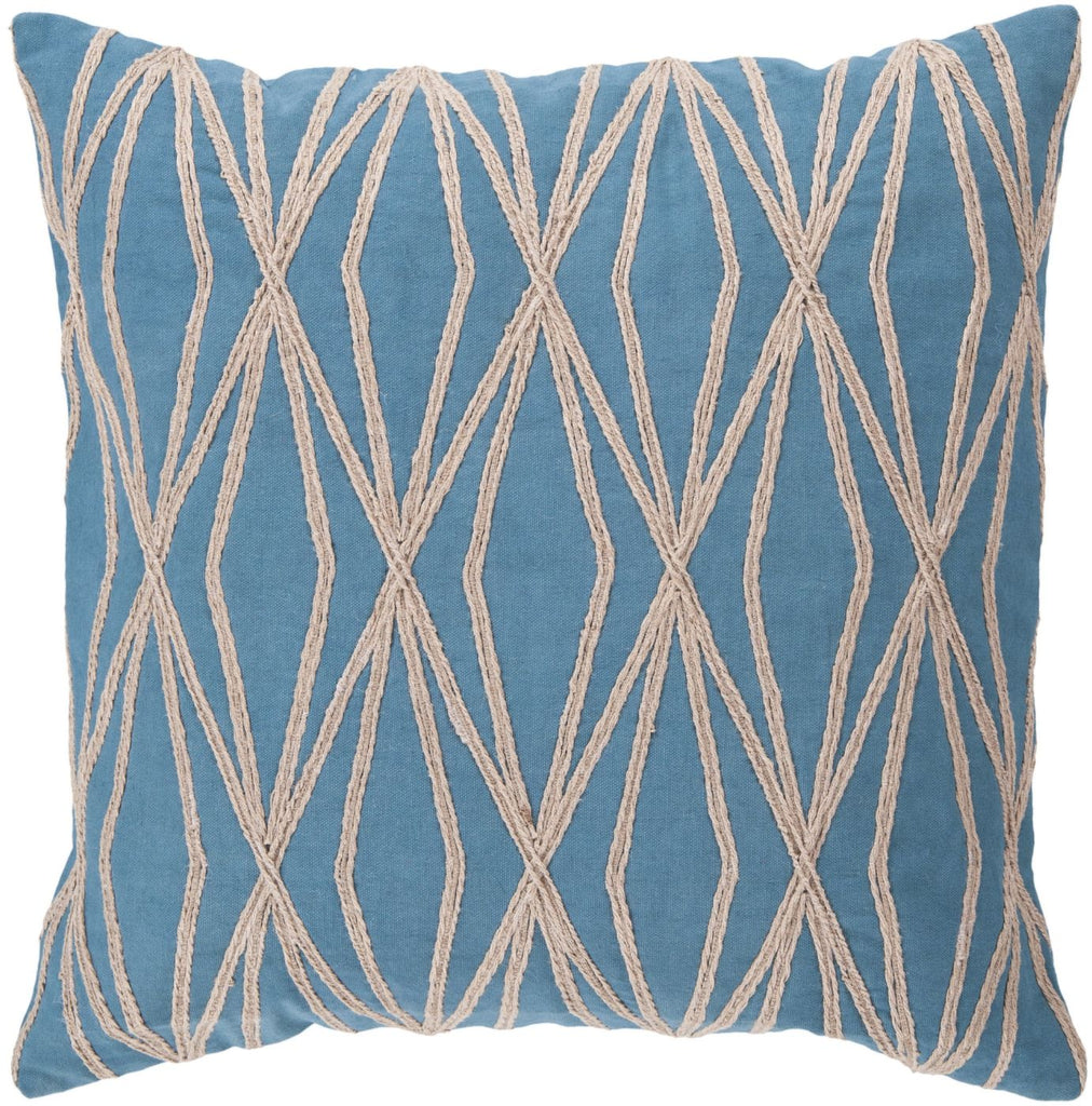 Dominican Throw Pillow Blue Brown