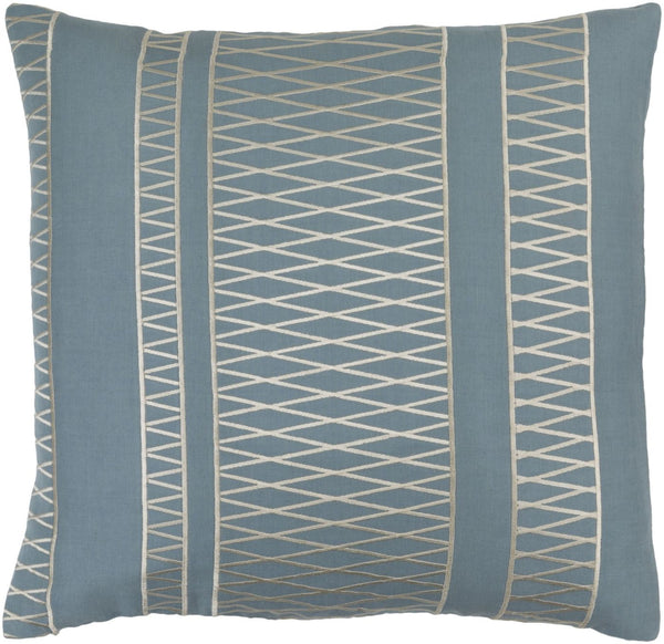 Cora Throw Pillow Blue Neutral