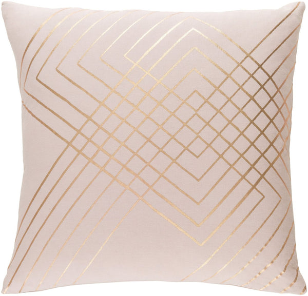 Crescent Throw Pillow Pink Yellow