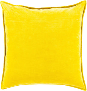 Throw Pillows - Surya CV020-1320D Cotton Velvet Throw Pillow Yellow | 888473231974 | Only $40.00. Buy today at http://www.contemporaryfurniturewarehouse.com