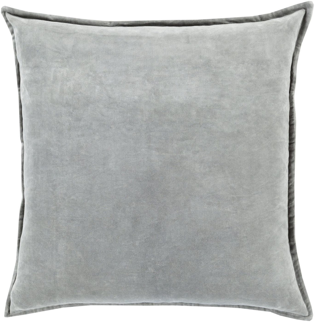 Throw Pillows - Surya CV021-1320D Cotton Velvet Throw Pillow Gray | 888473232056 | Only $50.00. Buy today at http://www.contemporaryfurniturewarehouse.com