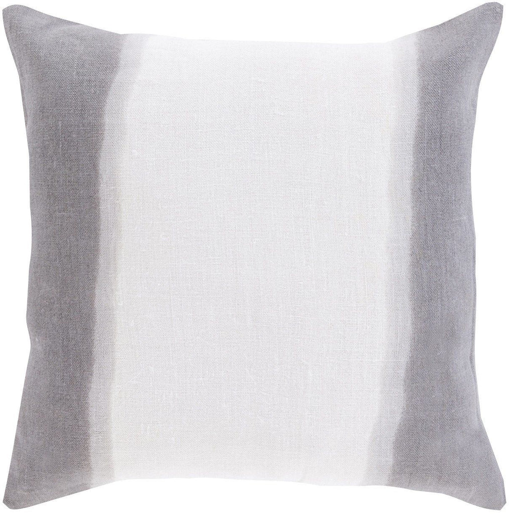 Double Dip Throw Pillow Neutral Gray